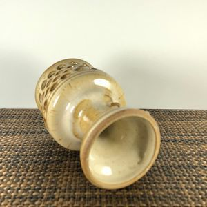 vintage Accents - Vintage 70's Stoneware Candle Holder Luminary